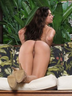 Beautiful Carol Luna shows off her perfect ass and dildoing her cock-hungry pussy