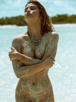 Escape to the beautiful shores of Mexico with the stunning, Gabriela Giovanardi.
