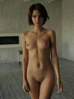 Free nude gallery of stunning brunette Natella Q. stripping naked and exposes her amazing body.