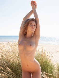"""This petite blonde, captured in this photo gallery, posing nude in nature is simply a sensational example of feminine beauty and sexuality. This sample gallery is taken from a full set of over 100 intimate, HQ photos called """"YALLINE"""" available only at fine softcore erotic site Met Art."""
