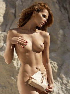 Stunning babe Valeria Lakhina gets naked outdoors.